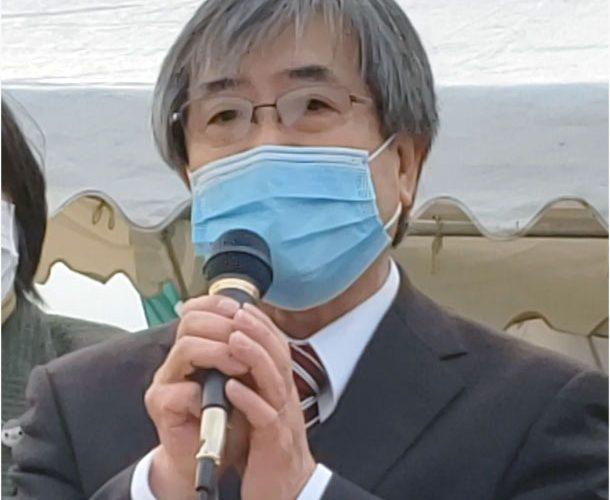 光吉ひとし事務所開き演説風景